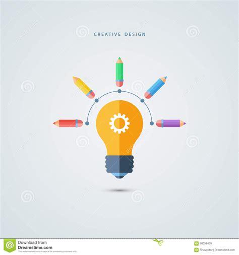 design concept graphic creative graphic design concept light bulb and color