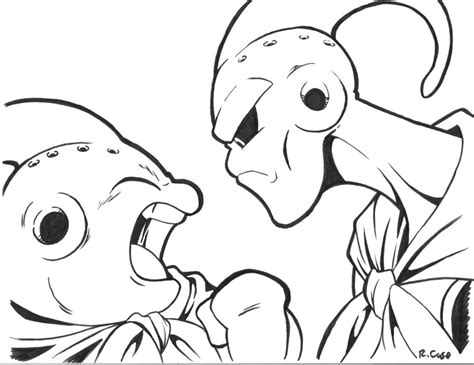 coloring pages episode 3 majin buu vs majin buu by rongs1234 on deviantart
