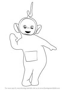 Learn How To Draw Laa From Teletubbies Step By  sketch template
