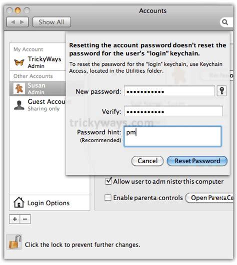 reset windows password mac forgot mac password see how to reset without disk mac os x