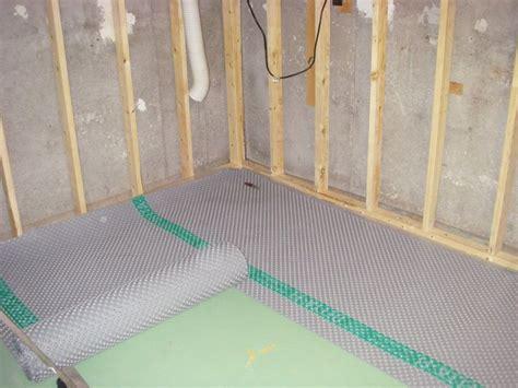 basement carpet underlayment how to install a subfloor in basement