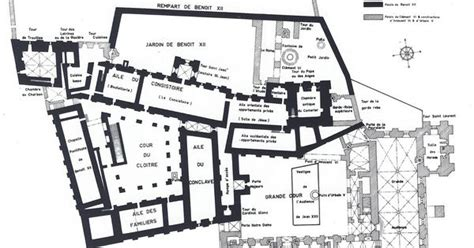 apostolic palace floor plan ground floor plan palais des papes avignon france the