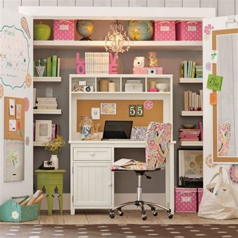 Cool And Stylish Pink Office With Closet Ideas Home Office Closet Ideas