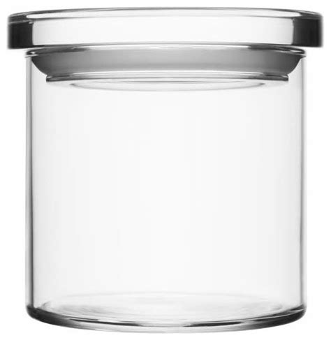 Clear Canisters Kitchen by Glass Jars 4 5 Quot X 4 25 Quot Clear Contemporary Kitchen