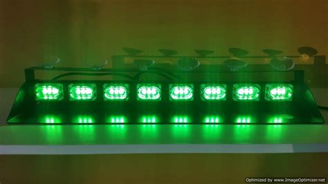 green led dash lights 19 quot bright volunteer firefighter green dash light