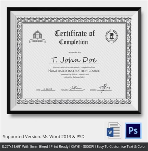 certificate format eps free certificate templates for completion of training
