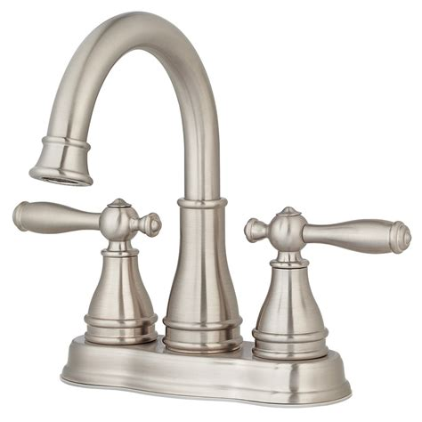 Bathroom Shower Faucets Shop Pfister Sonterra Brushed Nickel 2 Handle 4 In Centerset Bathroom Faucet At Lowes