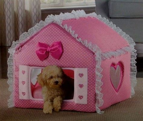 house dog beds luxury pink travel indoor covered foldable cat dog bed house w mesh windows ebay