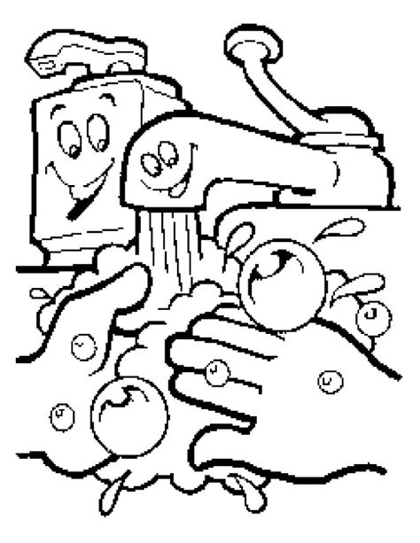 Hand Washing Coloring Pages | hand washing coloring page az coloring pages