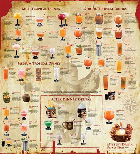 cocktail drinks menu historic mai kai celebrated new cocktail menu unveiled at
