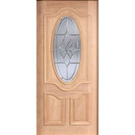 Main Door 36 In X 80 In Mahogany Type Unfinished Beveled Unfinished Front Door