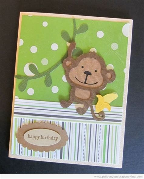 how to make cards with cricut monkey birthday cricut card using create a critter cricut