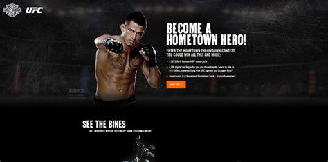 Ufc Harley Davidson Sweepstakes - h d com ufc harley davidson s hometown throw down contest