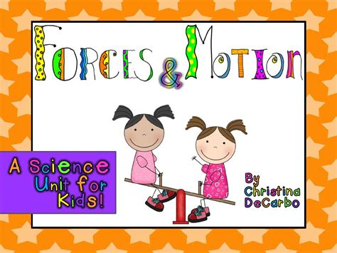 On Science Forces And Motion motion science unit for freebie miss