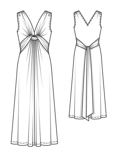 Maxi Longdress Lipat dress outline with fantastic white accent playzoa