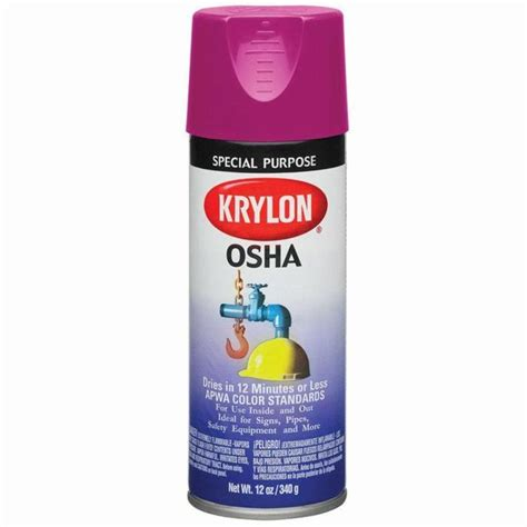 spray paint standards 12 oz krylon 1929 safety purple osha apwa color standard