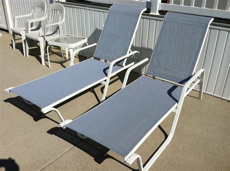 Winston Pool Furniture Chaise Sling Replacements In Sea Replacement Slings For Winston Patio Chairs