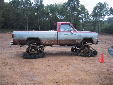 91 dodge truck 91 w250 with tracks not tires dodge ram ramcharger
