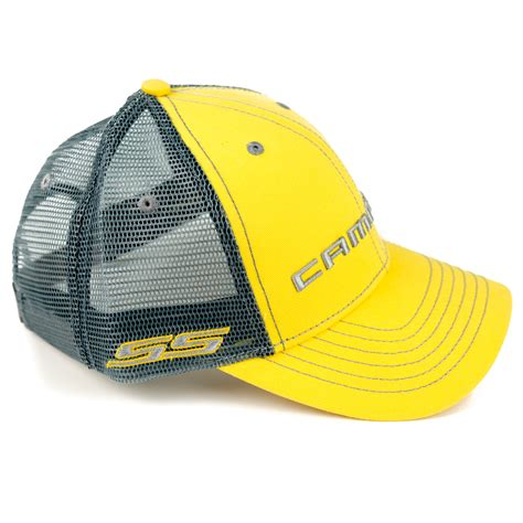 chevy camaro hats chevrolet camaro ss mesh hat yellow