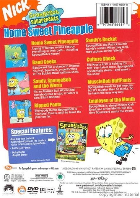 spongebob squarepants home sweet pineapple dvd 2005