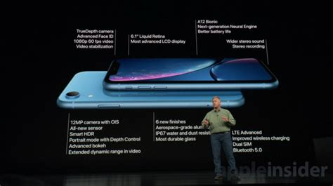 apple announces colorful    iphone xr  full screen liquid retina display  face id