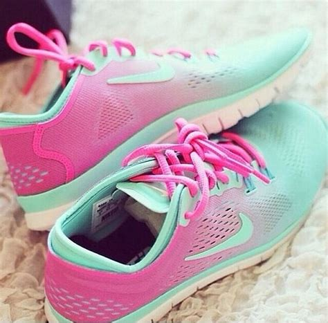 shoes pink and turquoise nike shoes nike green pink