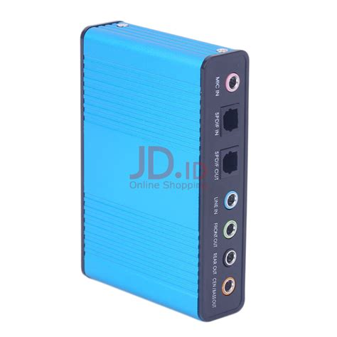 Jual Usb Sound Card 5 1 jual kingstore usb 6 channel 5 1 audio external optical sound card adapter for pc laptop skype