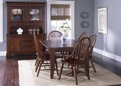 treasures cherry extension dining table dining room furniture by liberty furniture treasures 7 pc extension leg table windsor chairs in