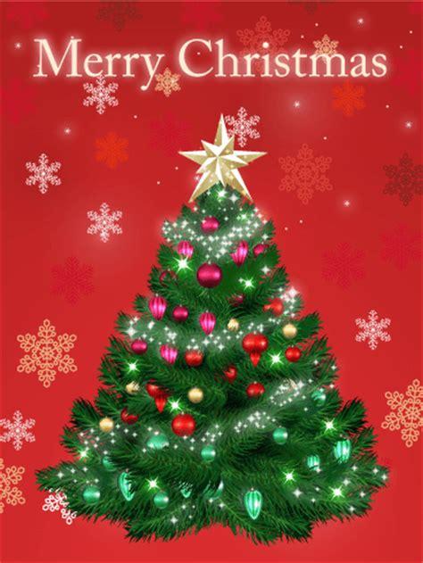 snowflakes christmas tree card birthday greeting cards  davia
