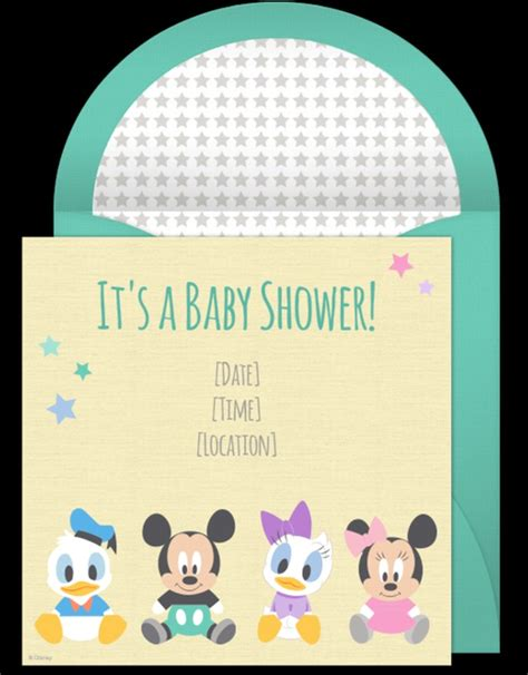 Disney Baby Shower Invitation Sle Invitations Online Free Disney Baby Shower Invitation Templates