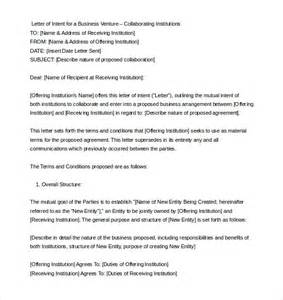 Letter Of Intent Template by 11 Letter Of Intent Templates Free Sle Exle