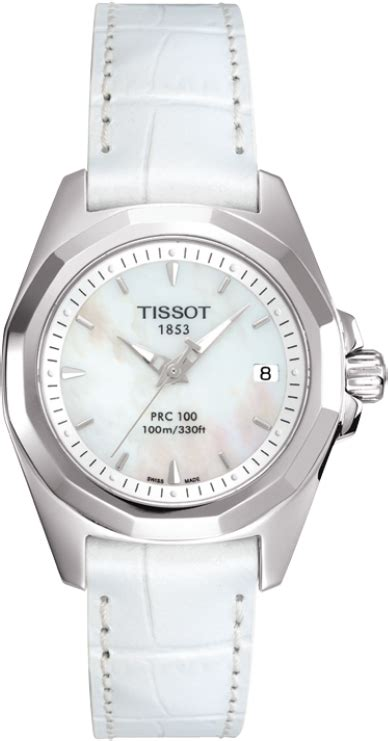Tissot Prc 100 T0082171103100 t008 010 16 111 00 prc 100 white pearl white alligator leather