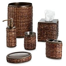 Retreat Wicker Bath Ensemble By Tommy Bahama Bed Bath Bahama Bathroom Accessories