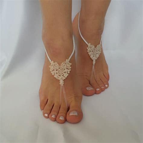 Frame Foto Sandal bridal anklet slik color ivory frame wedding