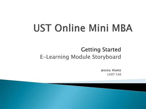 Ust Mba by Ppt Ust Mini Mba Powerpoint Presentation Id 2711871