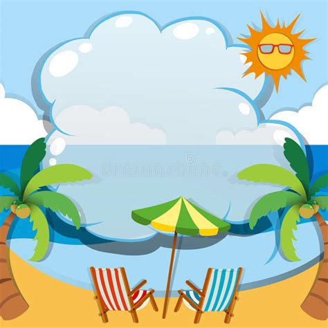 Borders Clipart 218945 Illustration By by Border Design With Summer Theme Stock Vector