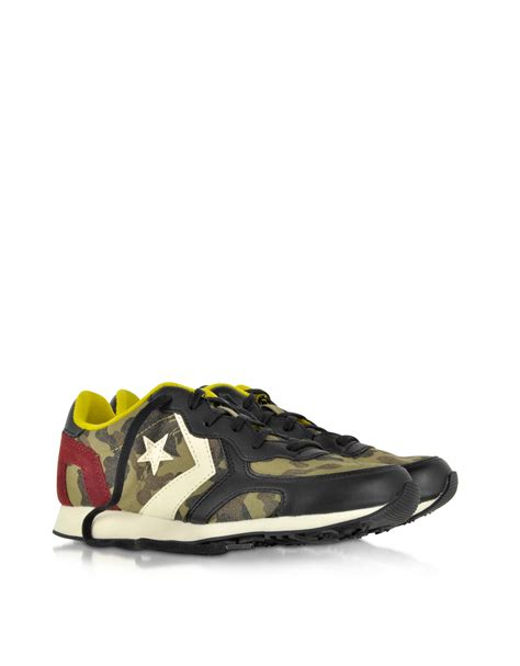 Converse Limited Edition Chair Print Shoe by Converse Auckland Racer Ox Camo Fabric Suede Sneaker In
