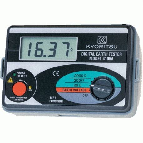 Original Fluke 4105a Earth Ground Tester Grounding Tester Megger Earth Resistance Meter Kyoritsu 4105a