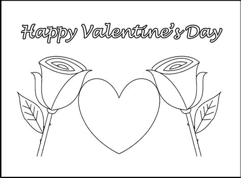valentines day coloring sheets happy day flower coloring and drawing sheet with