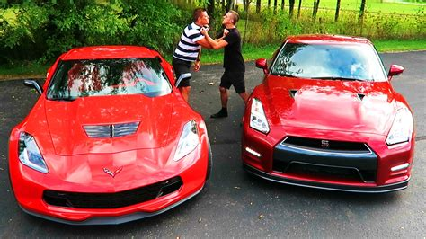 nissan gtr roman atwood gtr vs z06 drag race battle youtube