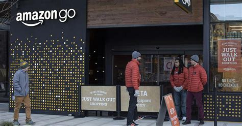 amazon go amazon s grab and go stores to pressure grocers to step up