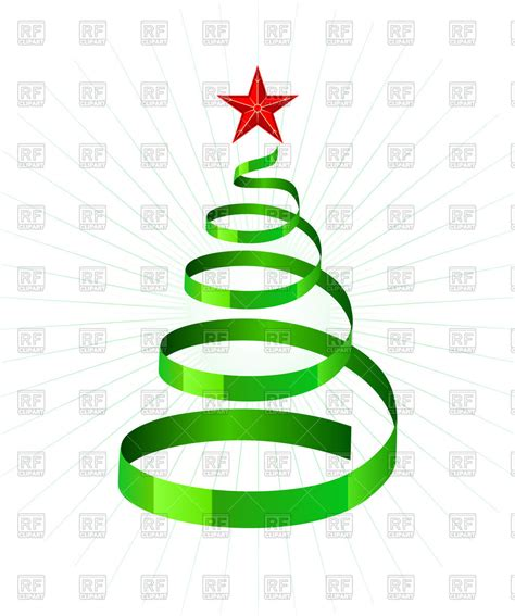 weihnachtsbaum spirale green spiral ribbon as symbolic tree royalty free