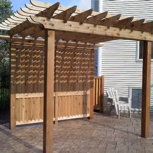 Pergola Screens by Custom Built Pergola With Privacy Screen Home Decor