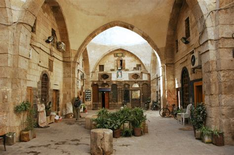 Damascus, Damascus, Syria   A typical courtyard in the old town of