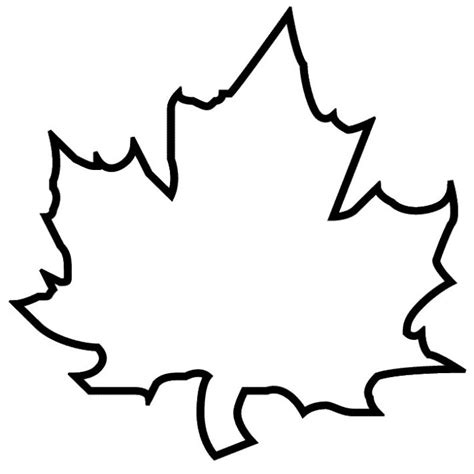 Sycamore Leaf Outline by трафарет кленовый лист батик и я