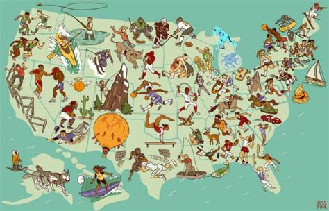 united steaks of america map if each state could have only one united sports of america map if each state could have