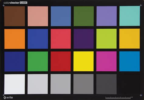color accuracy test test charts imatest