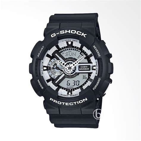 Jam Tangan Gs Ga 110 Black List White jual casio g shock matte black white ltd edition jam tangan pria black ga 110bw 1avdf