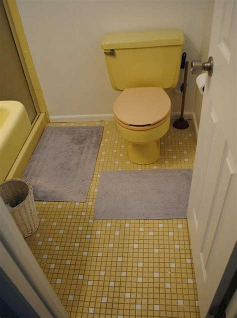 inspiration 60 yellow tile bathroom decorating ideas