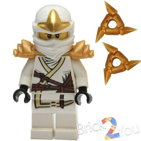 Lego Minifigure Zane Zx lego ninjago zane zx minifigure with 2 gold shurikens 9440 9449 ebay